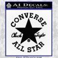 Chuck Taylor Decal Sticker Converse All Stars Black Vinyl 120x120