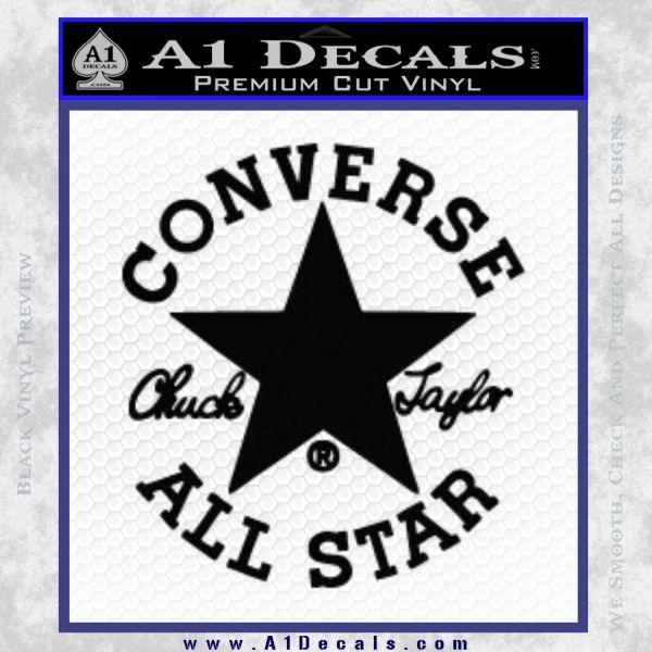 Chuck Taylor Decal Sticker Converse All Stars Black Vinyl