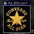 Chuck Taylor Decal Sticker Converse All Stars Gold Vinyl 120x120
