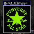 Chuck Taylor Decal Sticker Converse All Stars Lime Green Vinyl 120x120