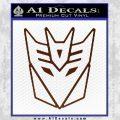 Decepticon Decal Sticker Thin BROWN Vinyl 120x120