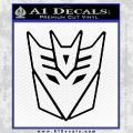 Decepticon Decal Sticker Thin Black Vinyl 120x120