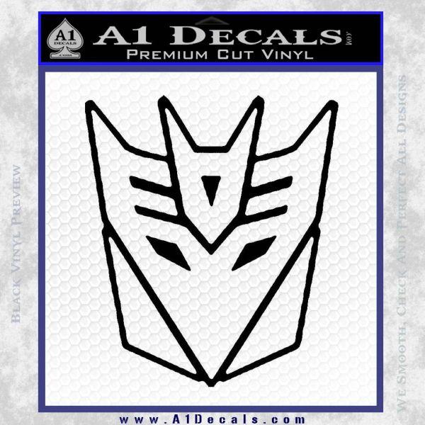 Decepticon Decal Sticker Thin Black Vinyl