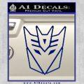 Decepticon Decal Sticker Thin Blue Vinyl 120x120