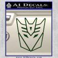 Decepticon Decal Sticker Thin Dark Green Vinyl 120x120