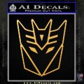 Decepticon Decal Sticker Thin Gold Vinyl 120x120