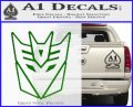 Decepticon Decal Sticker Thin Green Vinyl Logo 120x97