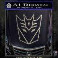 Decepticon Decal Sticker Thin Metallic Silver Emblem 120x120