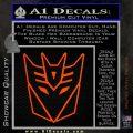 Decepticon Decal Sticker Thin Orange Emblem 120x120