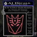 Decepticon Decal Sticker Thin Pink Emblem 120x120
