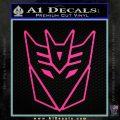 Decepticon Decal Sticker Thin Pink Hot Vinyl 120x120