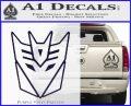 Decepticon Decal Sticker Thin PurpleEmblem Logo 120x97