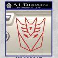 Decepticon Decal Sticker Thin Red 120x120