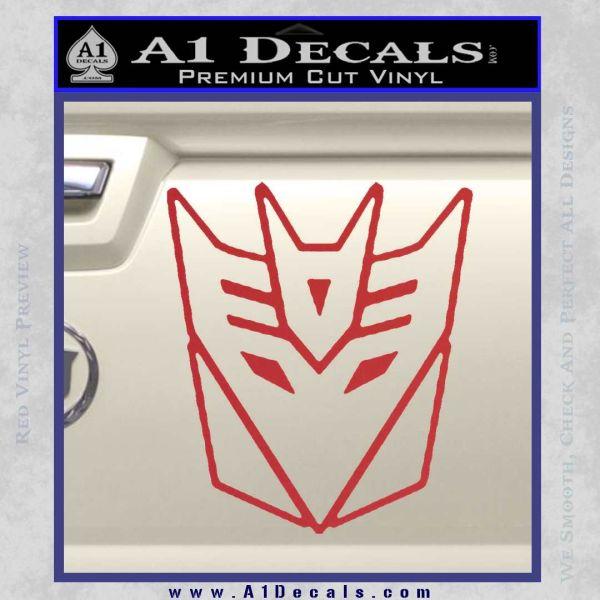 Transformers Decepticon White SCI-FI//Comics//Games Automotive Decal//Bumper Sticker