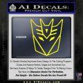 Decepticon Decal Sticker Thin Yellow Laptop 120x120
