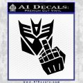 Decepticon Flipping Off Decal Sticker Black Vinyl 120x120