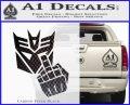 Decepticon Flipping Off Decal Sticker Carbon FIber Black Vinyl 120x97