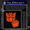 Decepticon Flipping Off Decal Sticker Orange Emblem 120x120
