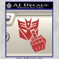 Decepticon Flipping Off Decal Sticker Red 120x120