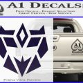 Decepticon Retro Decal Sticker D1 PurpleEmblem Logo 120x120