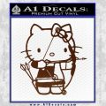 Hello Kitty Archery Compound Bow Decal Sticker BROWN Vinyl 120x120
