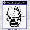 Hello Kitty Archery Compound Bow Decal Sticker Black Vinyl 120x120