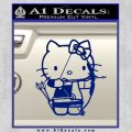 Hello Kitty Archery Compound Bow Decal Sticker Blue Vinyl 120x120