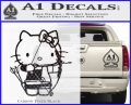 Hello Kitty Archery Compound Bow Decal Sticker Carbon FIber Black Vinyl 120x97