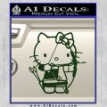 Hello Kitty Archery Compound Bow Decal Sticker Dark Green Vinyl 120x120