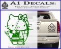 Hello Kitty Archery Compound Bow Decal Sticker Green Vinyl Logo 120x97