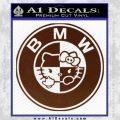 Hello Kitty BMW Decal Sticker BROWN Vinyl 120x120