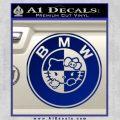Hello Kitty BMW Decal Sticker Blue Vinyl 120x120