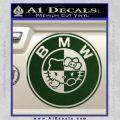 Hello Kitty BMW Decal Sticker Dark Green Vinyl 120x120