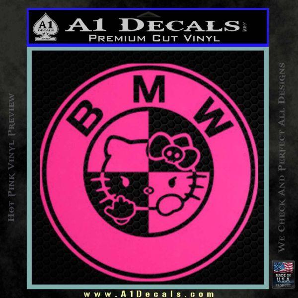 Hello Kitty BMW Decal Sticker Pink Hot Vinyl