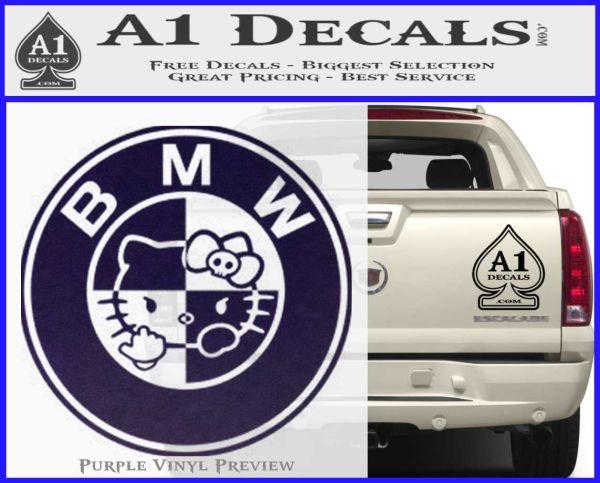 Hello Kitty BMW Decal Sticker » A1 Decals