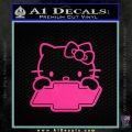 Hello Kitty Chevy Cheverolet D1 Decal Sticker Pink Hot Vinyl 120x120