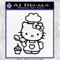Hello Kitty Cupcake Decal Sticker D1 Black Vinyl 120x120