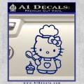 Hello Kitty Cupcake Decal Sticker D1 Blue Vinyl 120x120