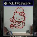 Hello Kitty Cupcake Decal Sticker D1 DRD Vinyl 120x120