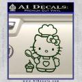 Hello Kitty Cupcake Decal Sticker D1 Dark Green Vinyl 120x120
