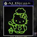 Hello Kitty Cupcake Decal Sticker D1 Lime Green Vinyl 120x120