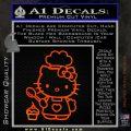 Hello Kitty Cupcake Decal Sticker D1 Orange Emblem 120x120