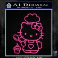 Hello Kitty Cupcake Decal Sticker D1 Pink Hot Vinyl 120x120