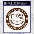 Hello Kitty Decal Sticker Intricate BROWN Vinyl 120x120