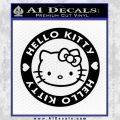 Hello Kitty Decal Sticker Intricate Black Vinyl 120x120