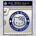 Hello Kitty Decal Sticker Intricate Blue Vinyl 120x120