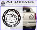Hello Kitty Decal Sticker Intricate Carbon FIber Black Vinyl 120x97