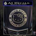 Hello Kitty Decal Sticker Intricate Carbon FIber Chrome Vinyl 120x120