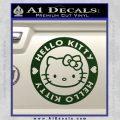 Hello Kitty Decal Sticker Intricate Dark Green Vinyl 120x120