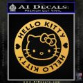 Hello Kitty Decal Sticker Intricate Gold Vinyl 120x120